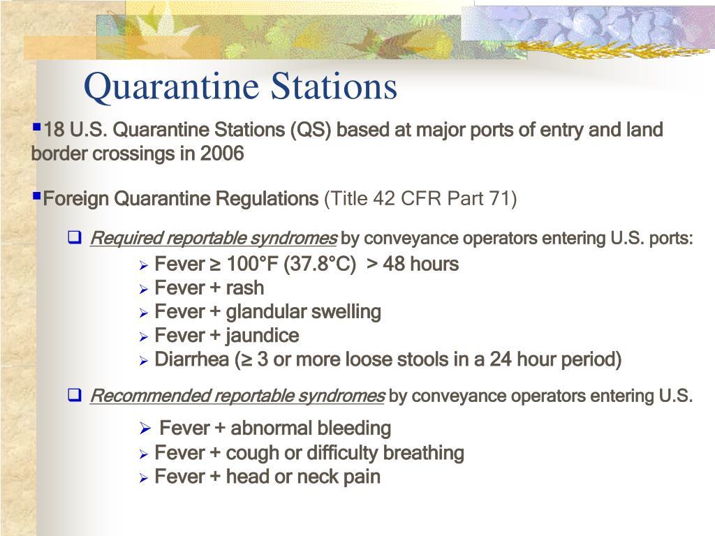 Quarantine Stations