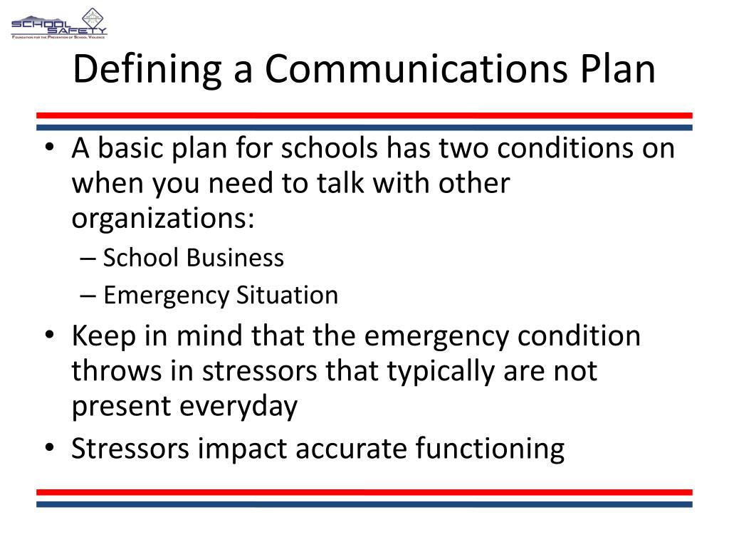 Defining a Communications Plan