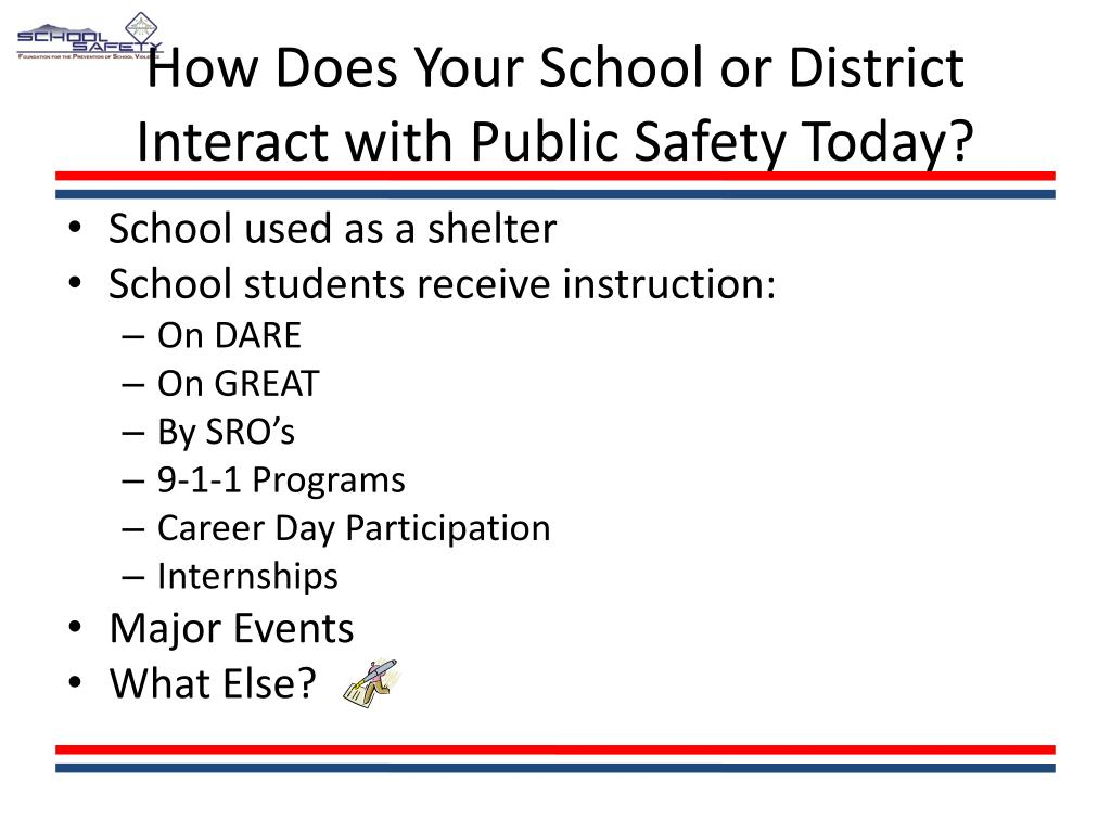 How Does Your School or District Interact with Public Safety Today?