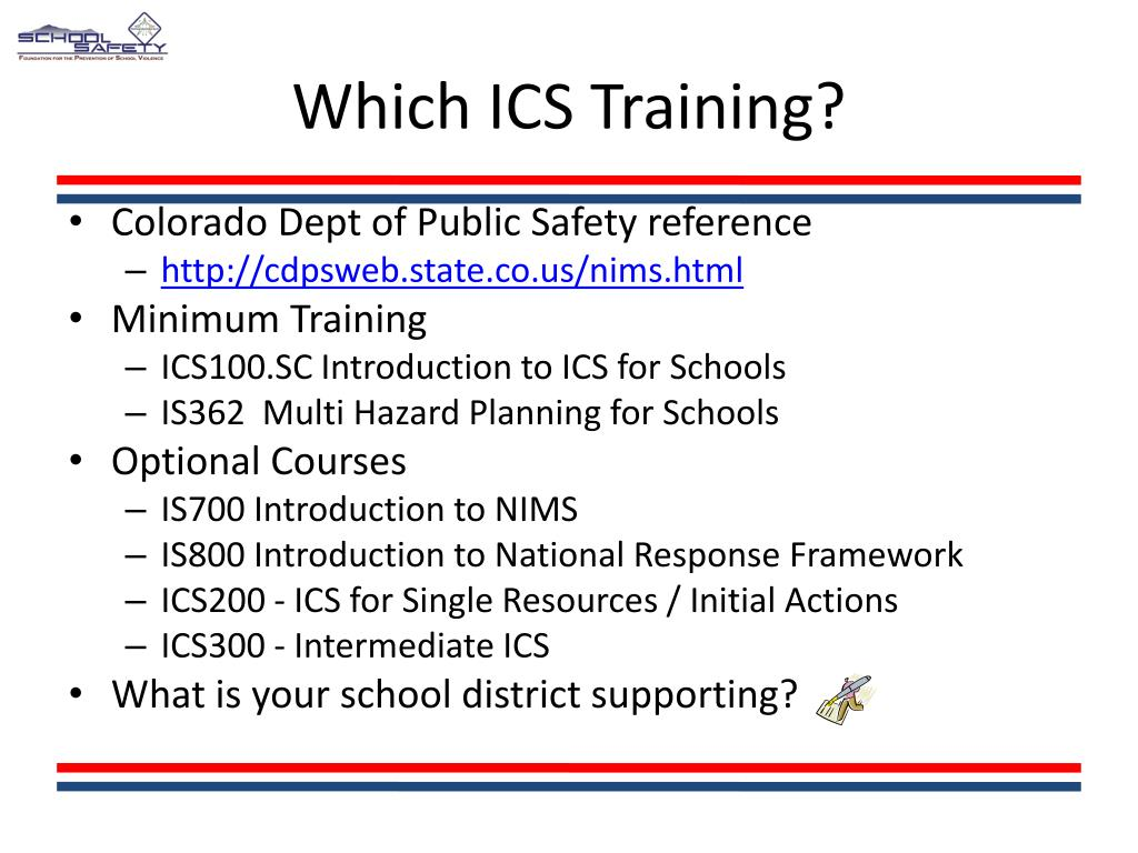 Which ICS Training?