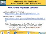 niaid grants preparation guidance