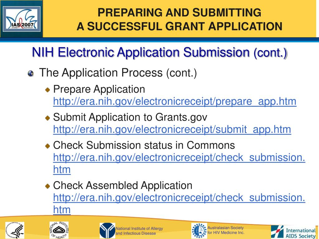 NIH Electronic Application Submission