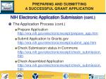 nih electronic application submission cont