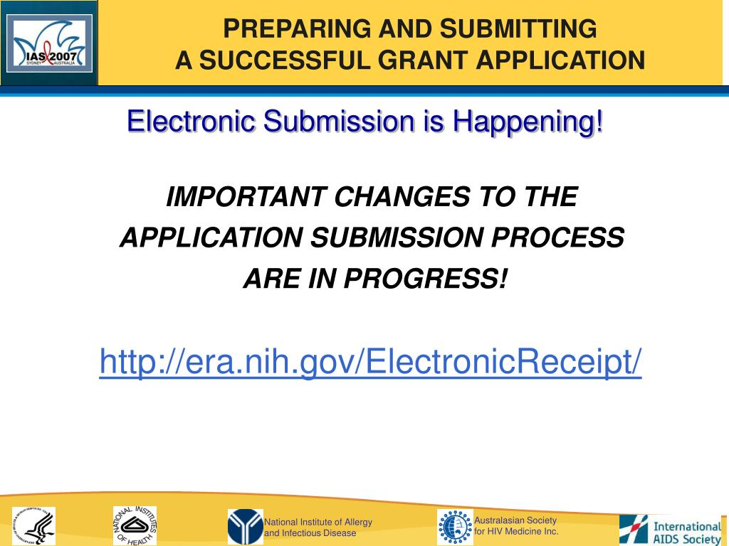 Electronic Submission is Happening!