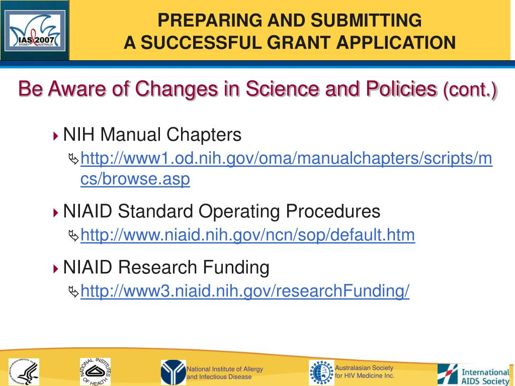 Be Aware of Changes in Science and Policies
