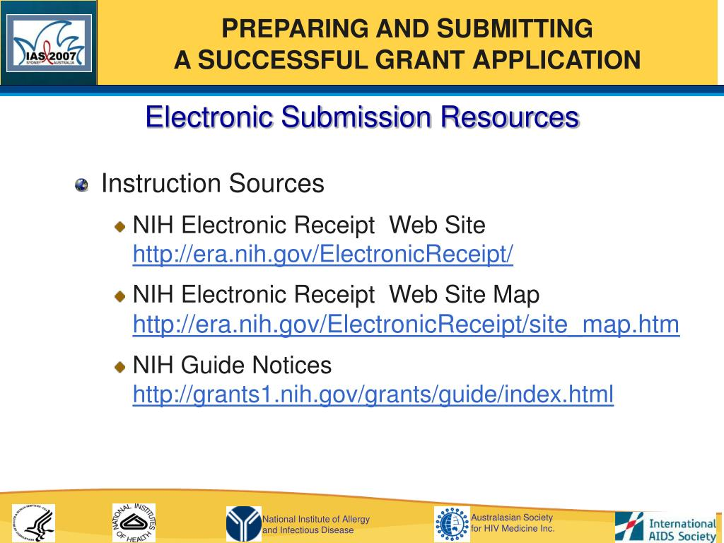 Electronic Submission Resources