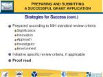 strategies for success cont10