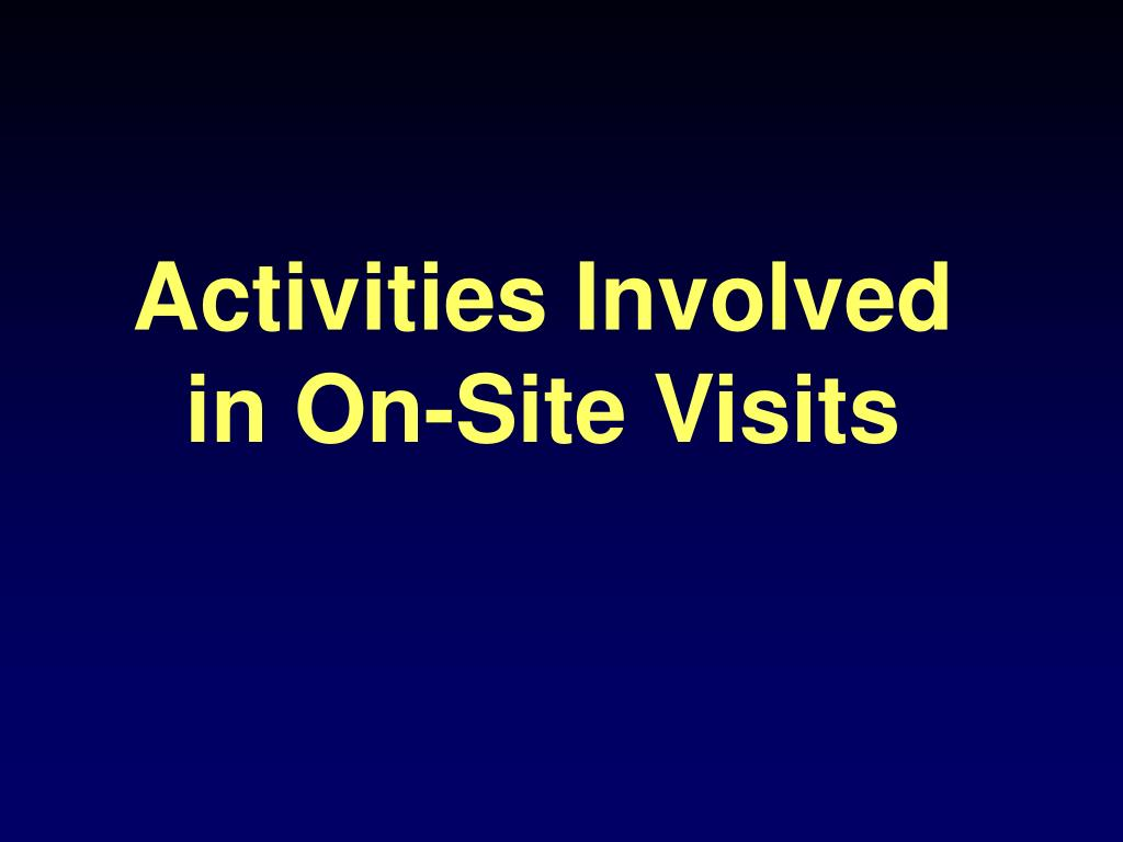 Activities Involved