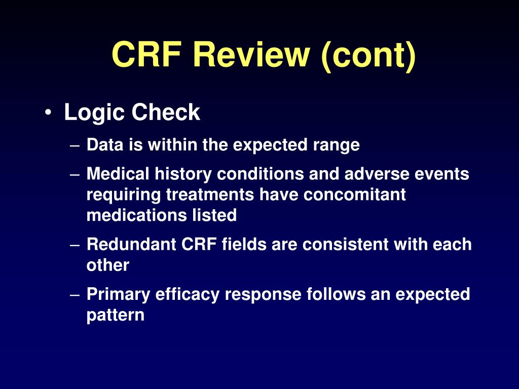 CRF Review (cont)