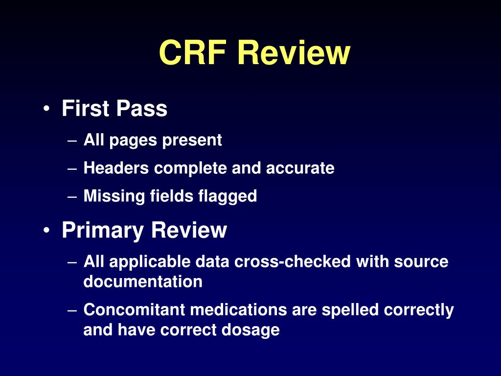 CRF Review
