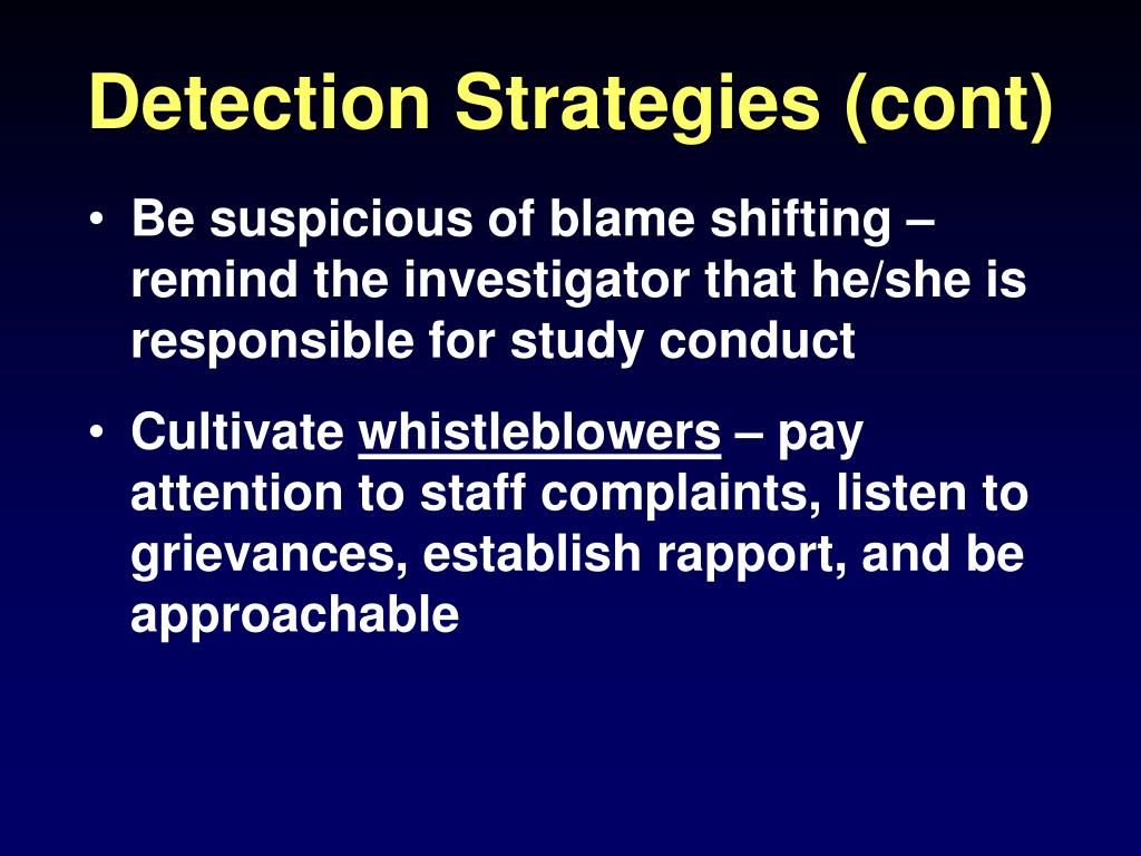 Detection Strategies (cont)