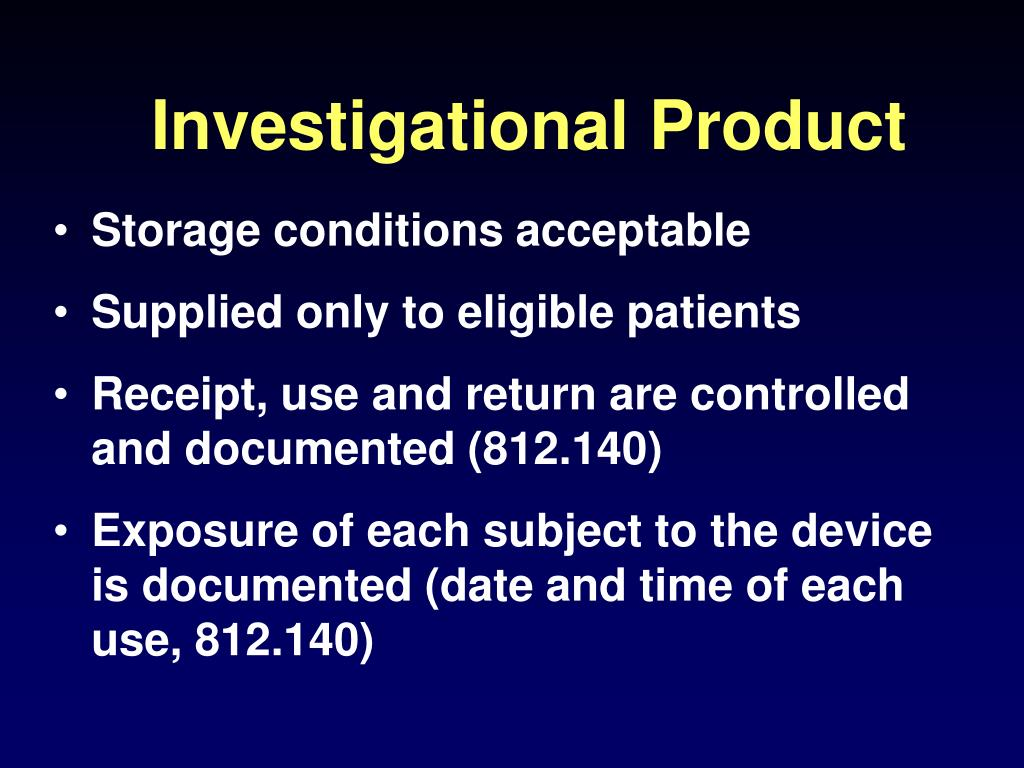 Investigational Product