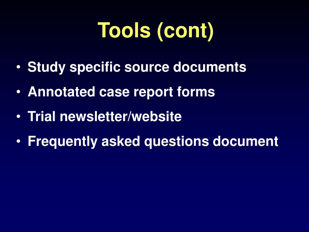 Tools (cont)