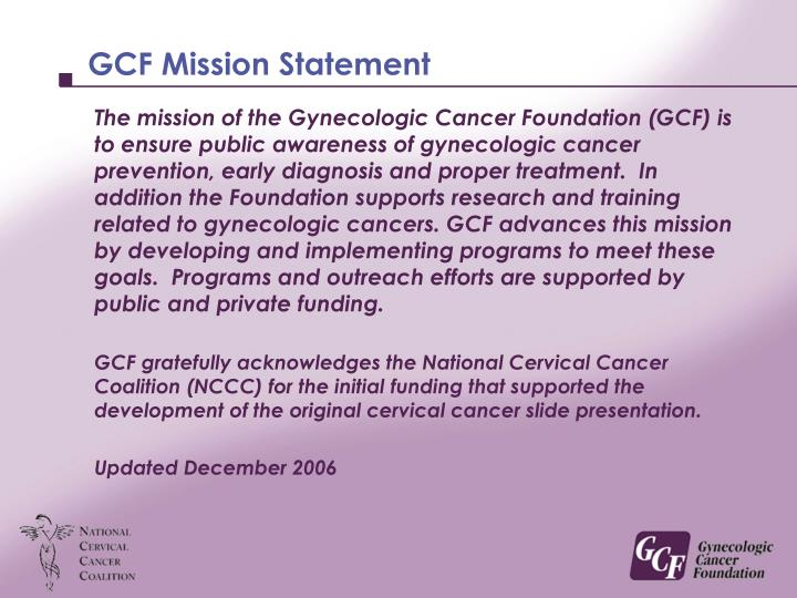 Gcf mission statement l.jpg