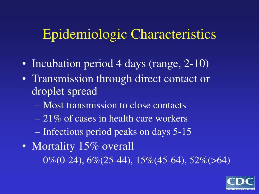 Epidemiologic Characteristics