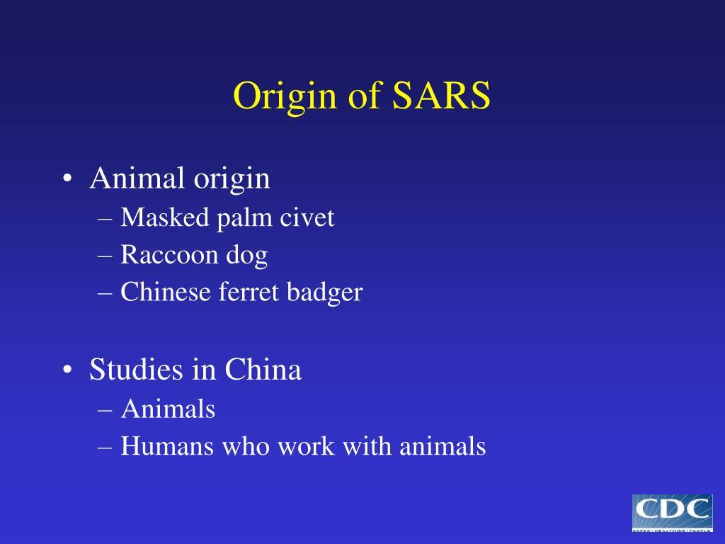 Origin of SARS