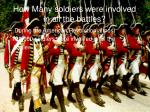 how many soldiers were involved in all the battles