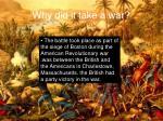 why did it take a war