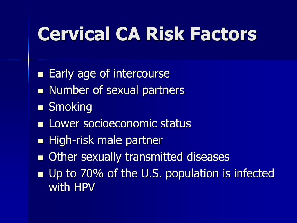 Cervical CA Risk Factors
