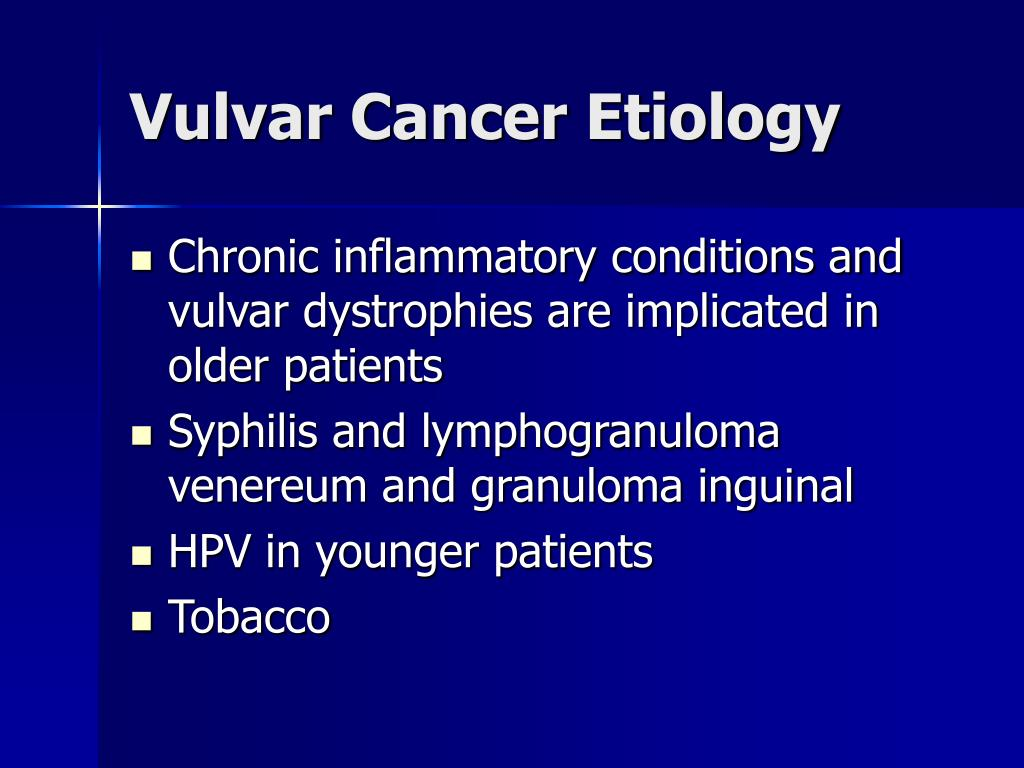 Vulvar Cancer Etiology
