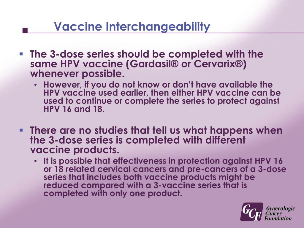 Vaccine Interchangeability
