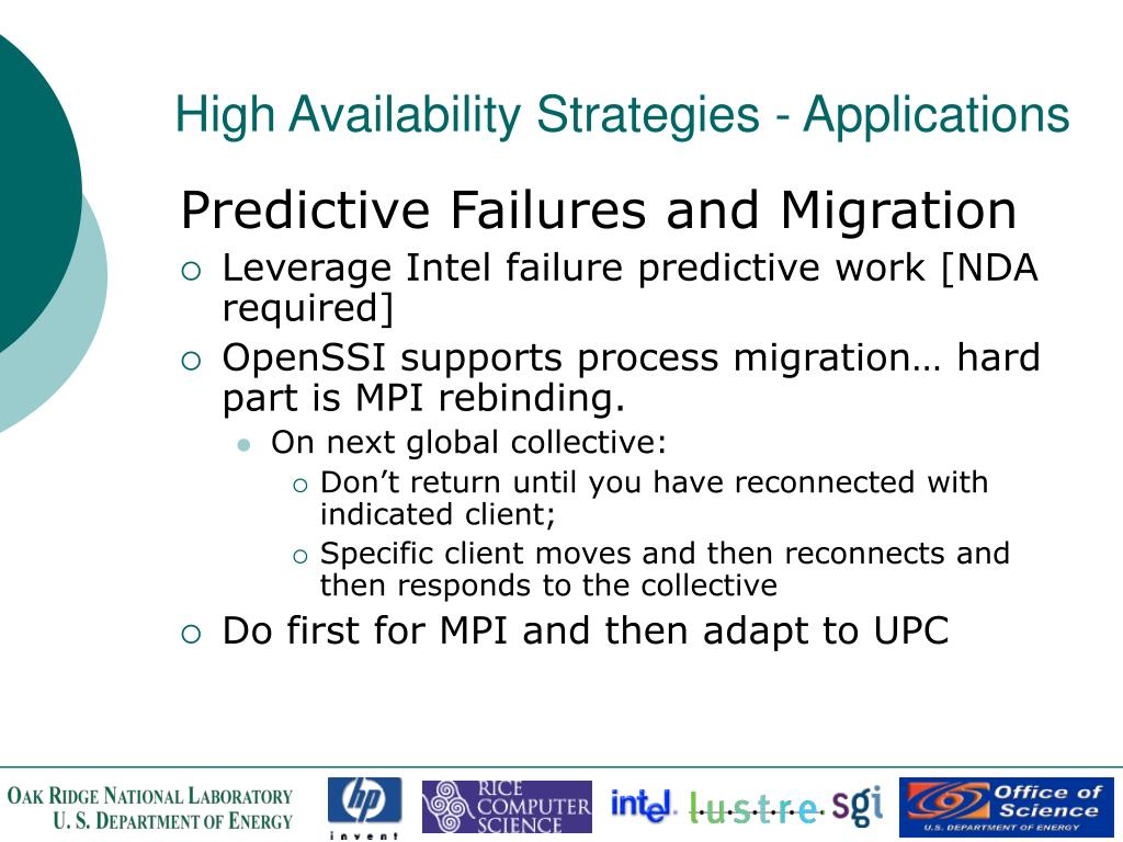 High Availability Strategies - Applications