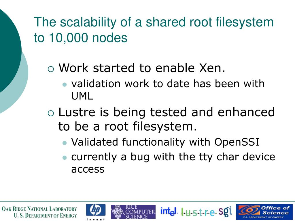 The scalability of a shared root filesystem to 10,000 nodes