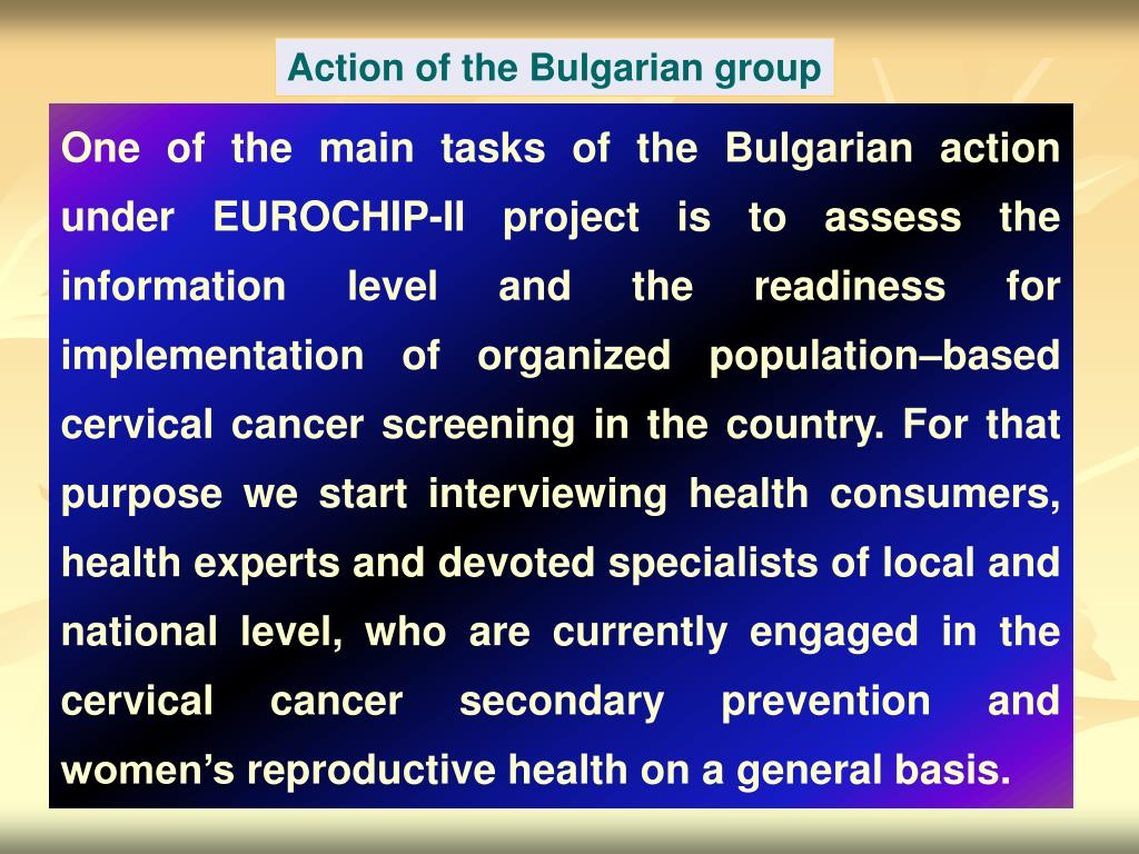 Action of the Bulgarian group