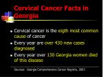 cervical cancer facts in georgia
