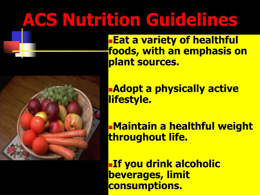 ACS Nutrition Guidelines
