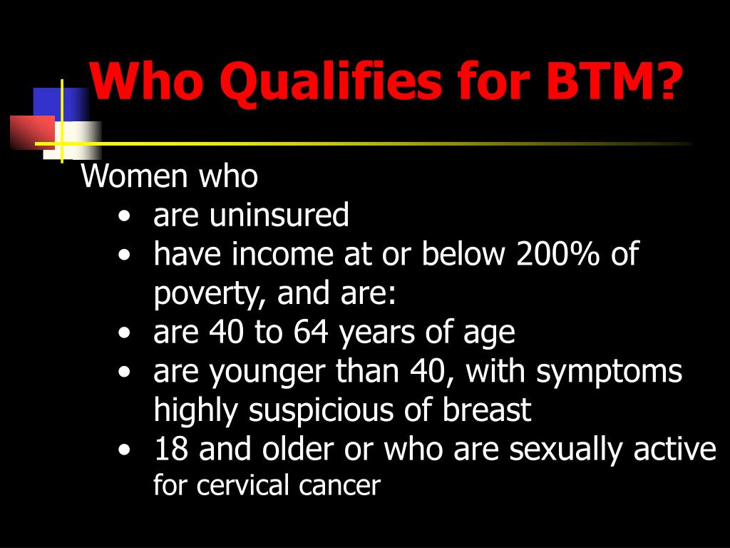 Who Qualifies for BTM?