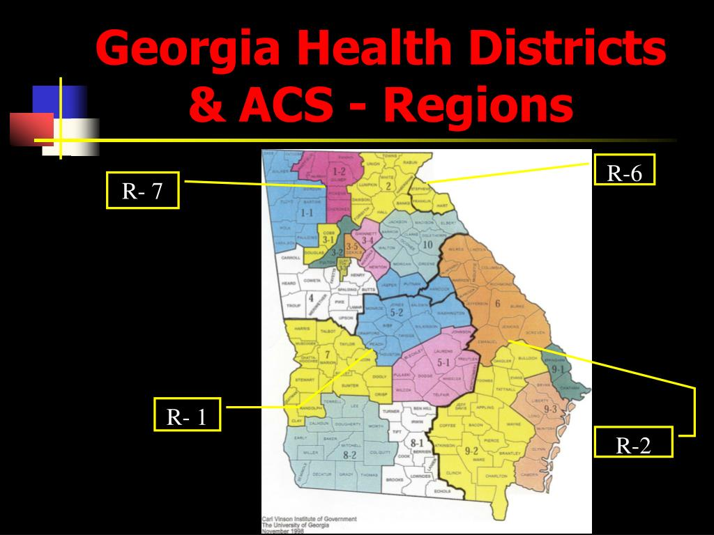 Georgia Health Districts & ACS - Regions
