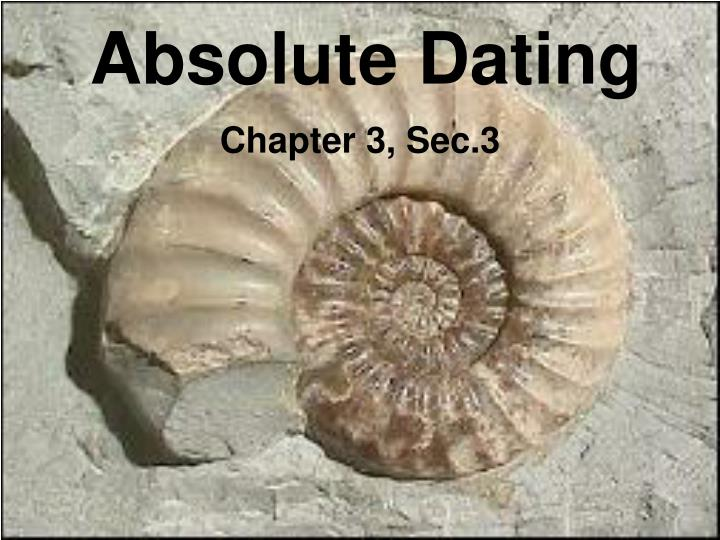 Absolute age dating facts