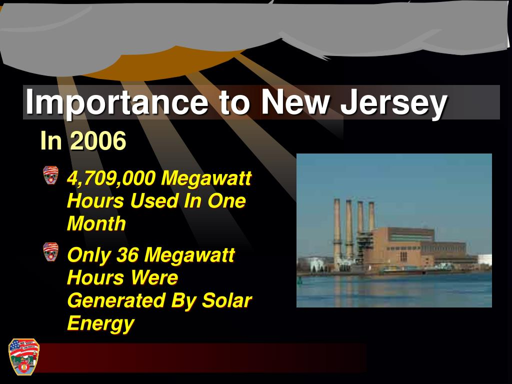 Importance to New Jersey