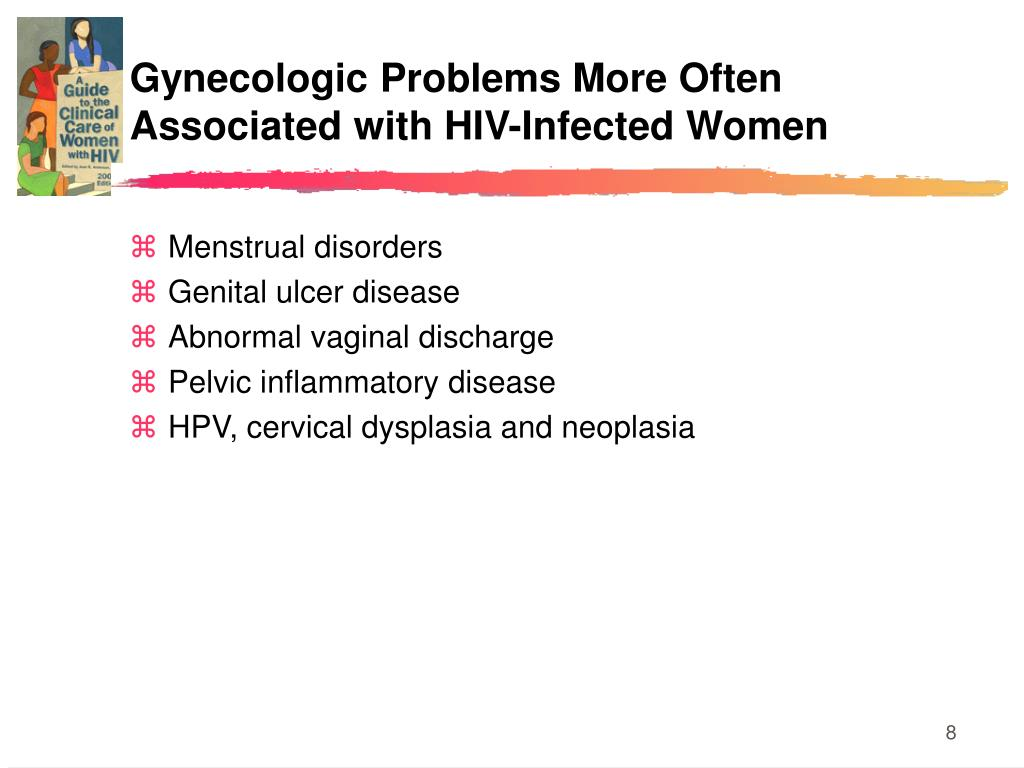 Gynecologic Problems More Often Associated with HIV-Infected Women