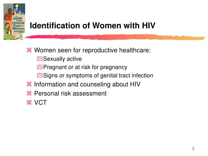 Identification of women with hiv