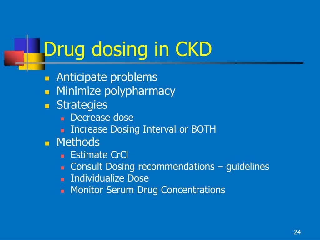 Drug dosing in CKD
