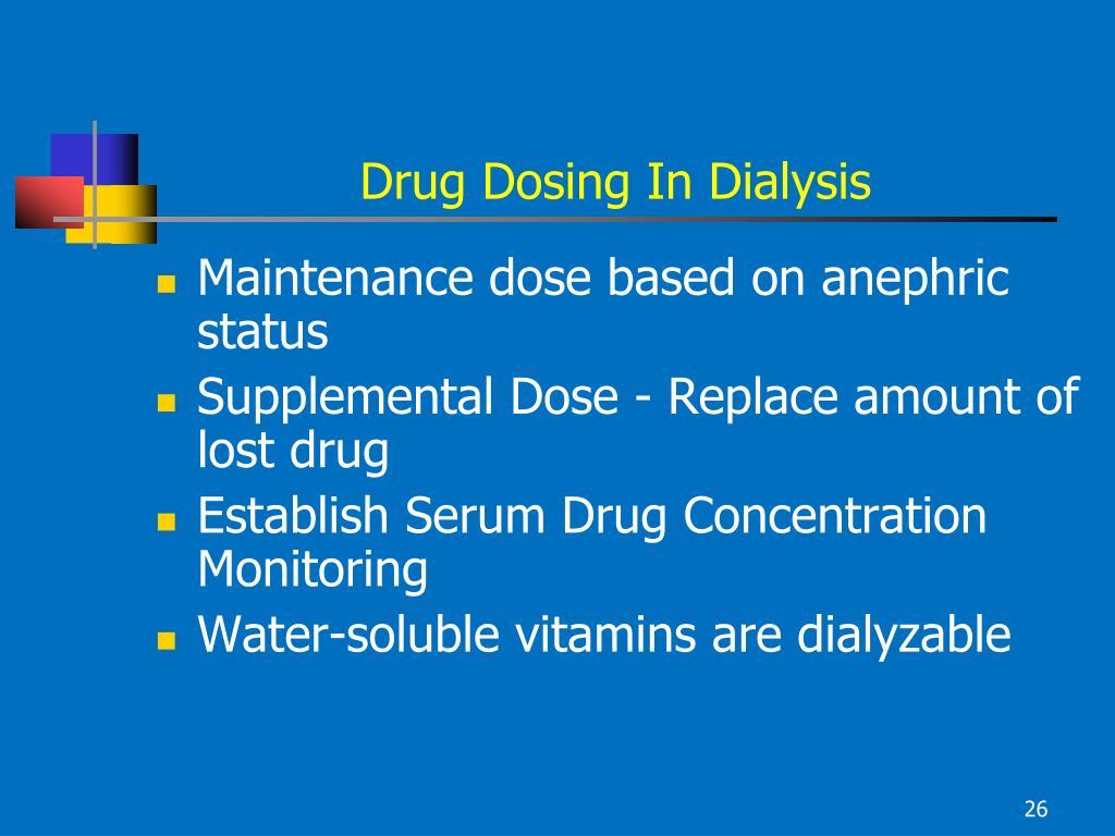 Drug Dosing In Dialysis