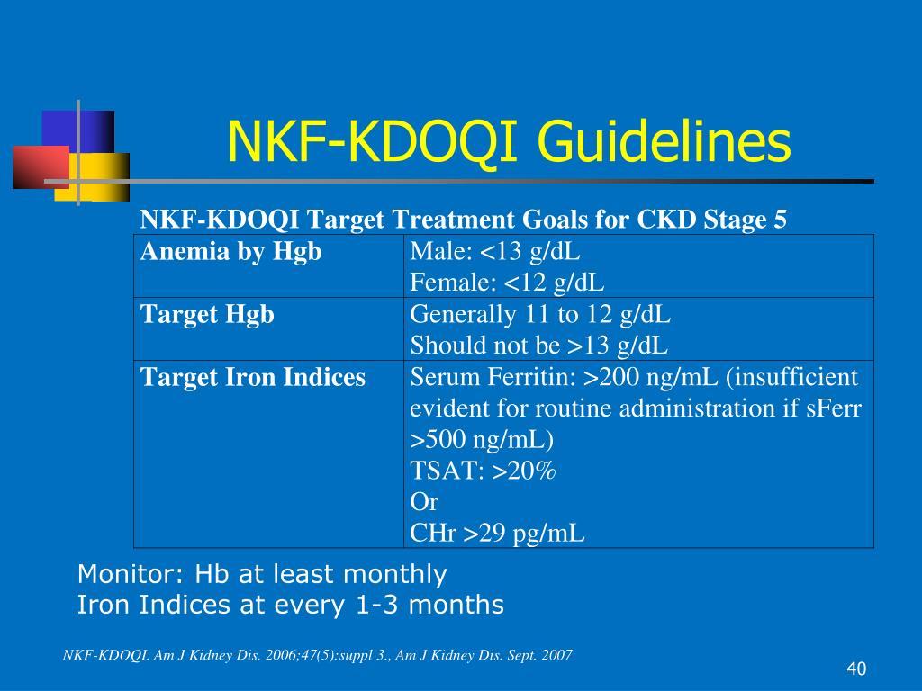 NKF-KDOQI Guidelines