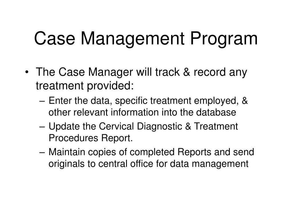 Case Management Program