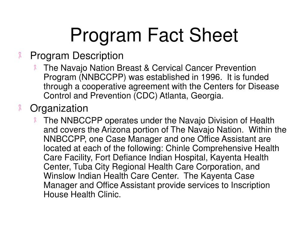 Program Fact Sheet