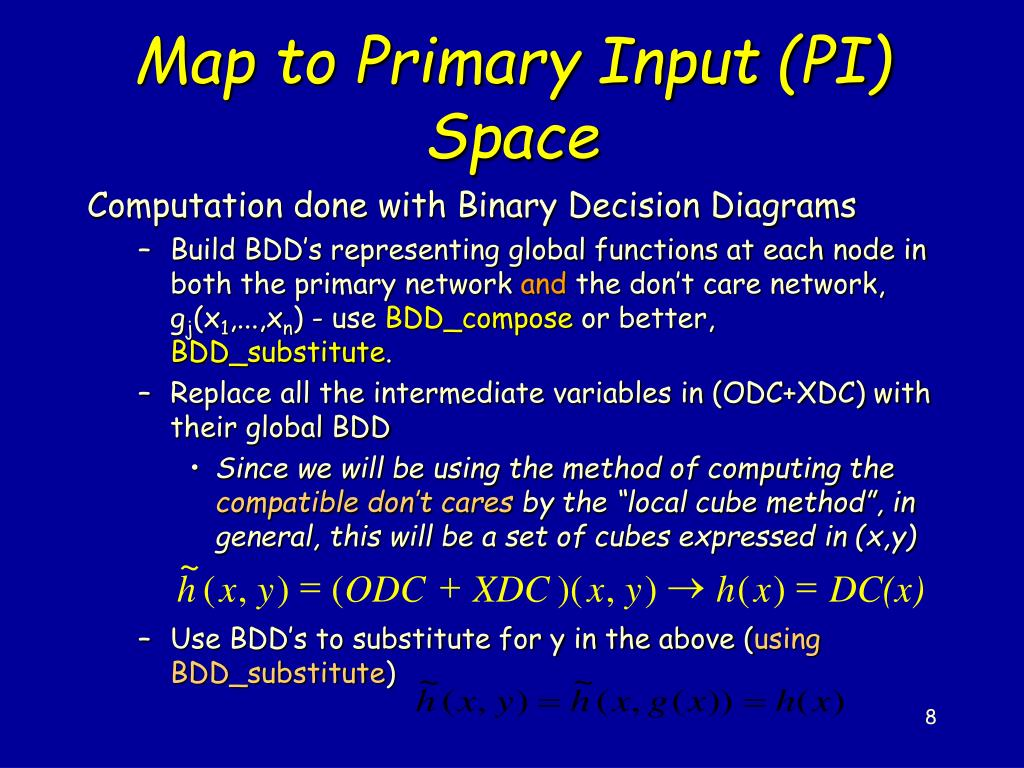 Map to Primary Input (PI) Space