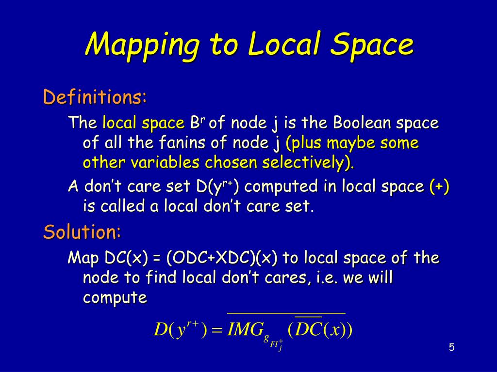 Mapping to Local Space