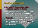 major findings11