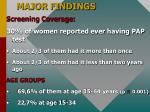 major findings12