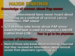 major findings13