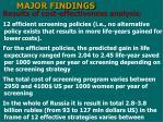 major findings23