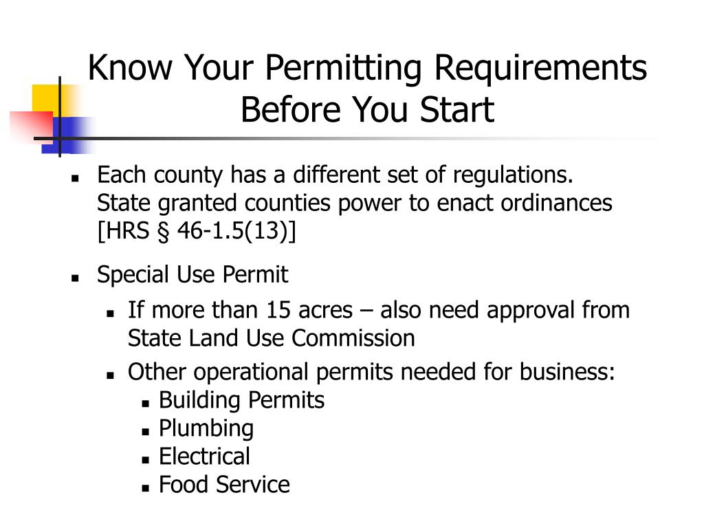 Know Your Permitting Requirements Before You Start