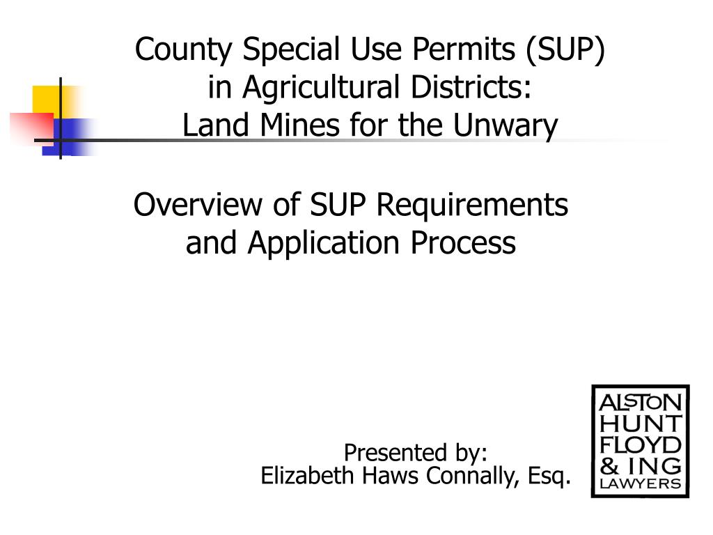 County Special Use Permits (SUP)