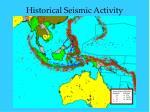 historical seismic activity